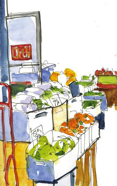 PRODUCE MARKET by gus mcduffie, via Flickr