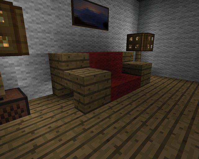 how to make a shelf with wool carpet minecraft
