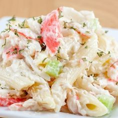 This pasta seafood salad recipe uses pasta and imitation crab. If you like imitation crab, this is a great salad idea to add to your recipe box along with potato salads, coleslaw, and chicken salads.. Pasta Seafood Salad Recipe from Grandmothers Kitchen.