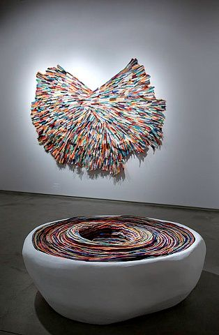 Andrea Myers: Fabric and Ceramic Sculpture