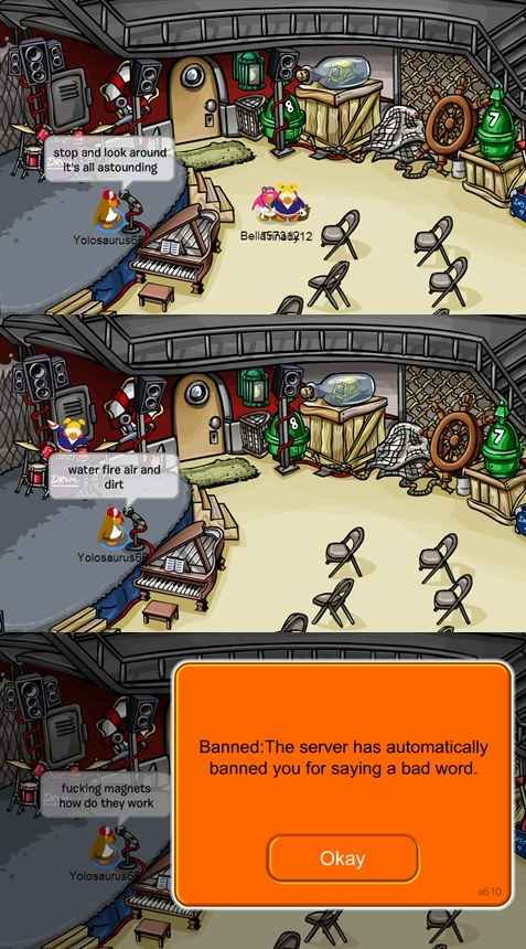 Singing your favorite ICP songs: | The 24 Easiest Ways To Get Banned From Club Penguin