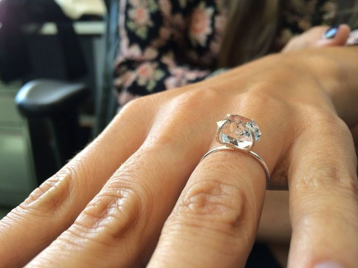 Herkimer Diamond Engagement Ring by Urban Solstice - www.urbansolsticedesigns.com