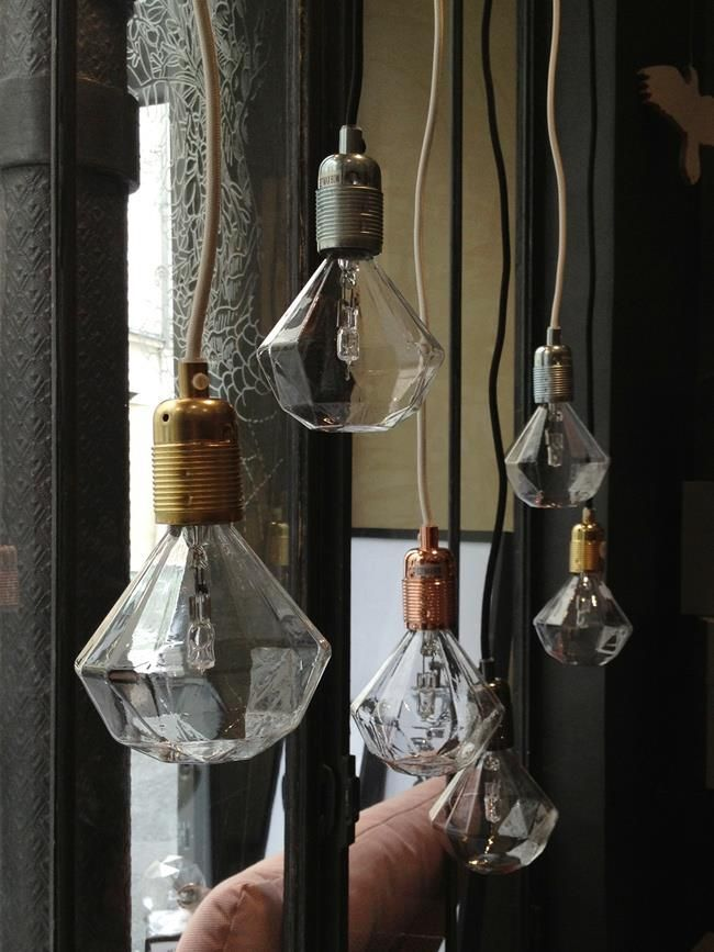 Frama E27 Pendant, with Diamond Light bulb, by Frama. [http://www.framacph.com/frama-collection/frama-e27]