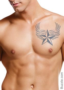 Truly Awesome Nautical Star Tattoos to Sport on the Chest