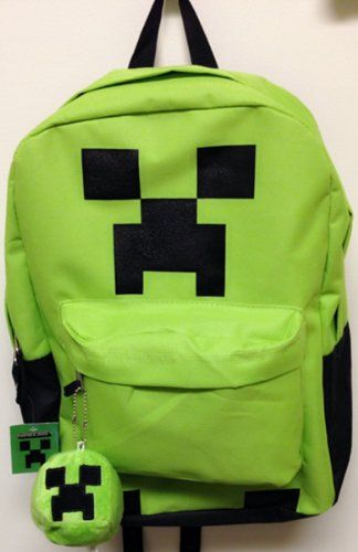 #minecraft school backpack with bonus plush