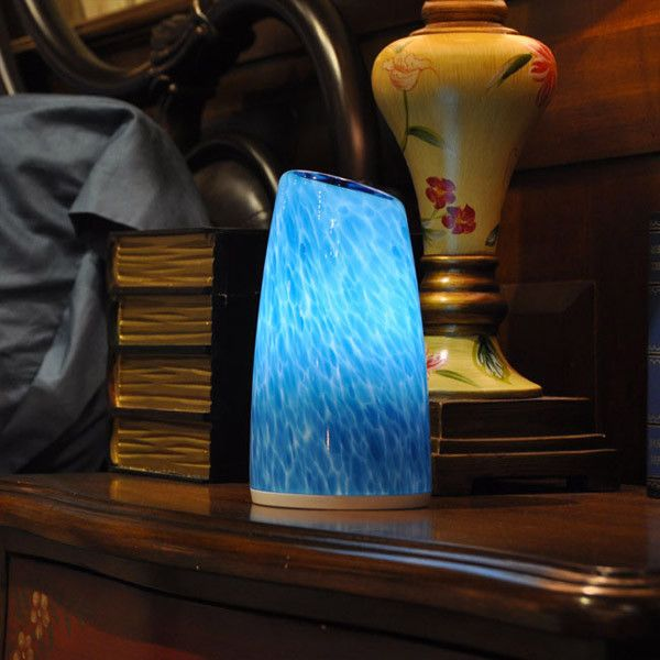This Premium Cordless Lamp Is A Battery Operated LED Table Lamp, Hand  Painted And Crafted From Hand Blown Glass.