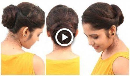2 Min Easy Bun Frisur für mittleres Haar