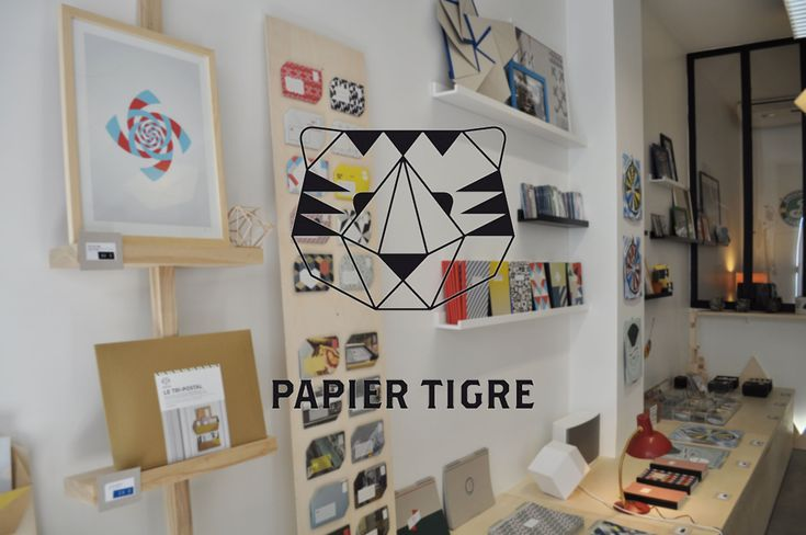 Papier Tigre 5 rue des Filles du Calvaire - Paris 3  http://lesnanasdpaname.com/2014/05/17/papier-tigre/ #conceptstore #papeterie #papiertigre