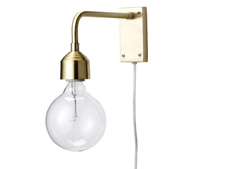 Bloomingville wandlamp goud