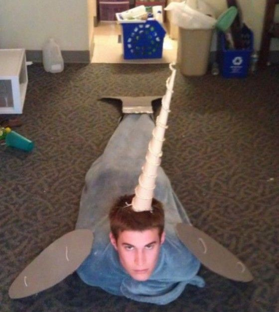 DIY Narwhal Costume hahahah what the fuck
