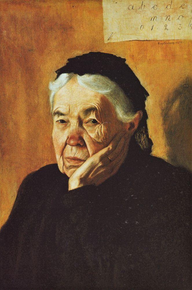 Hugo Simberg,  Auntie; The Artist's Aunt 1898