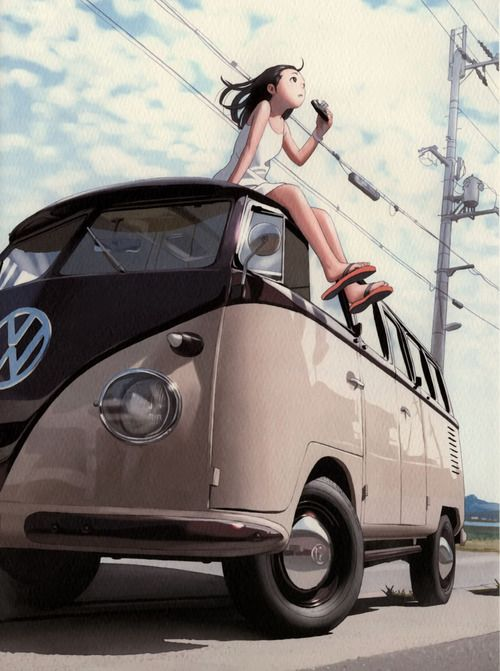 VW Camper How lovely is this, the VW looks...