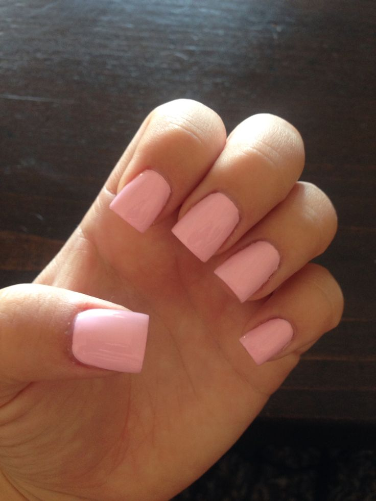 Mod About You OPI nail polish, light pink acrylic nails, summer nails, square nails