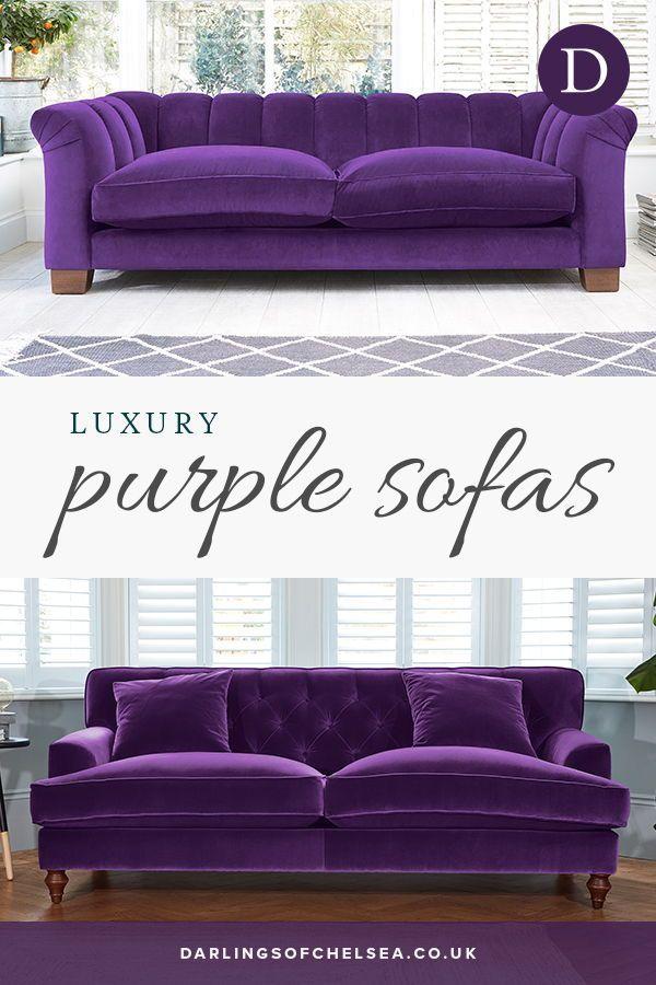 Luxury Purple Sofas Ideas Darlings Of Chelsea Purple Living Room Furniture Purple Living Room Purple Sofa