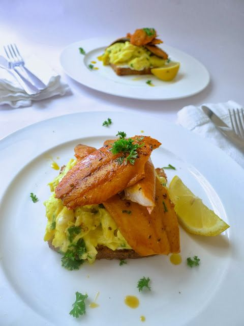 Smoked Kippers with creamy scramble eggs