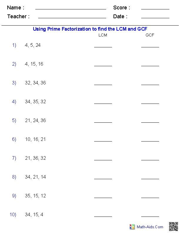 26 Lcm Word Problems 6th Grade 6th Grade Math Worksheets Lcm In 2020 Greatest Common Factors Common Multiples Least Common Multiple