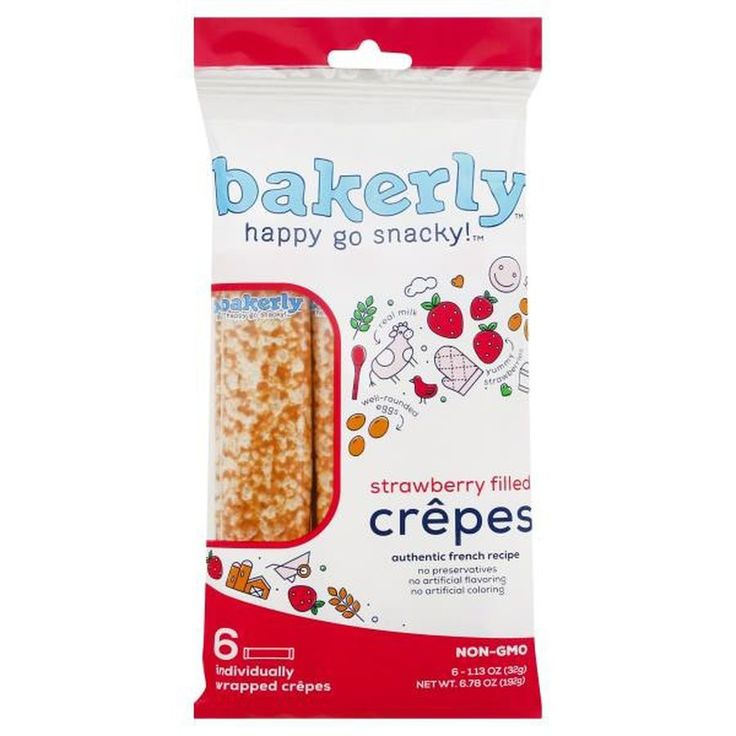 Instacart bakerly happy go snacky crepes strawberry
