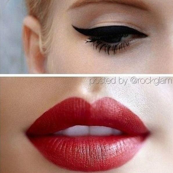 Classic #makeup inspiration. #red