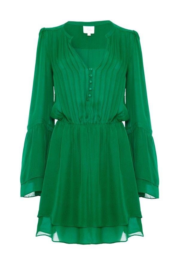 Parker Risa Dress Emerald on shopstyle.ca