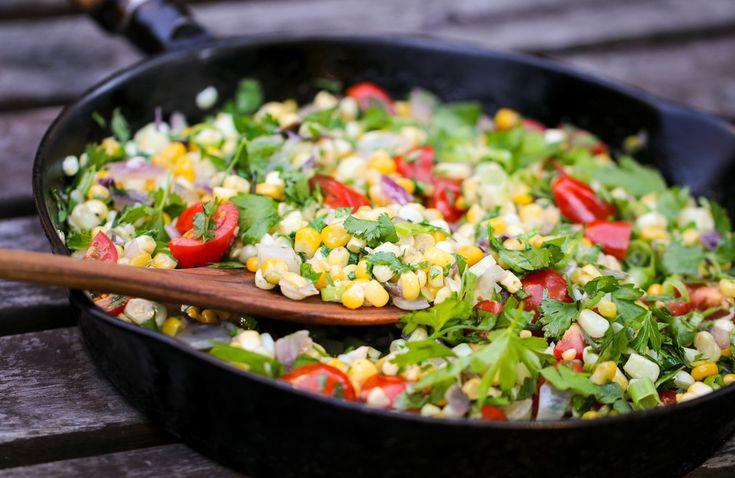 Summer Corn Saute with Herbs