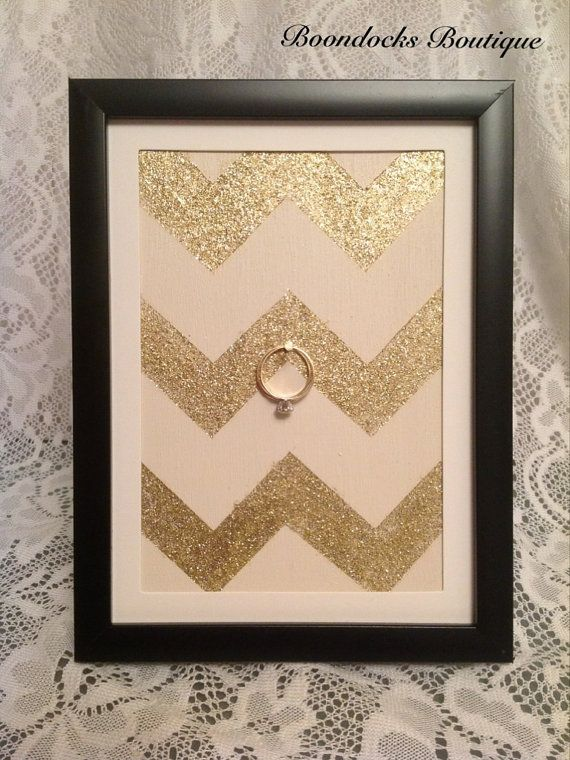 Wedding & Engagement Ring Holder Frame Chic by BoondocksBoutique