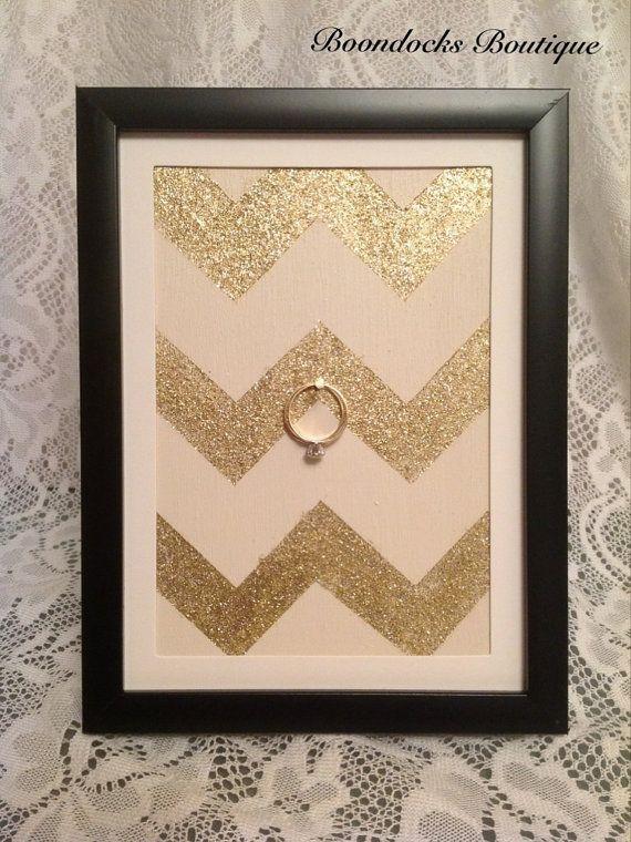 Wedding & Engagement Ring Holder Frame Chic by BoondocksBoutique