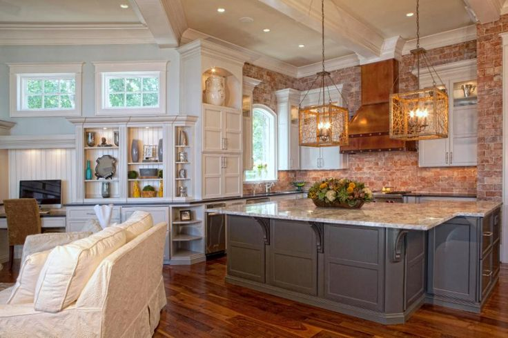 17 best images about woodland house interior on pinterest for Brick kitchen ideas