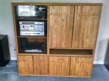 Solid Oak Entertainment Center w/Cabinets for Audio/Video equipment & storage