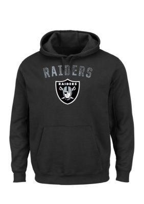 Majestic Black Oakland Raiders Kick Return Hooded Fleece Sweatshirt