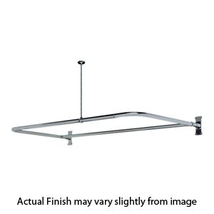 D Shaped Shower Rod W/Ceiling Support   A U Rod With An
