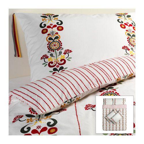 ÅKERKULLA Quilt cover and 4 pillowcases - 200x200/50x80 cm  - IKEA