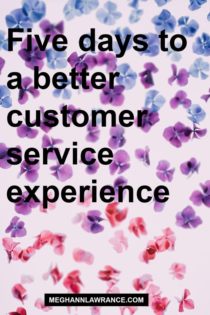 If you have customers, then you are in the business of service. It doesn't matter if your customer service team consists of just you, you need to be developing a customer service process. I can help you develop a better customer service experience in just five days // meghannlawrance.com