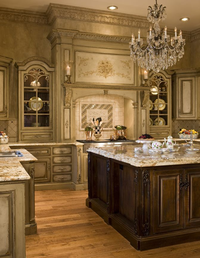 French Country Kitchen Areas - Transfer a Chateau-Like Really ...