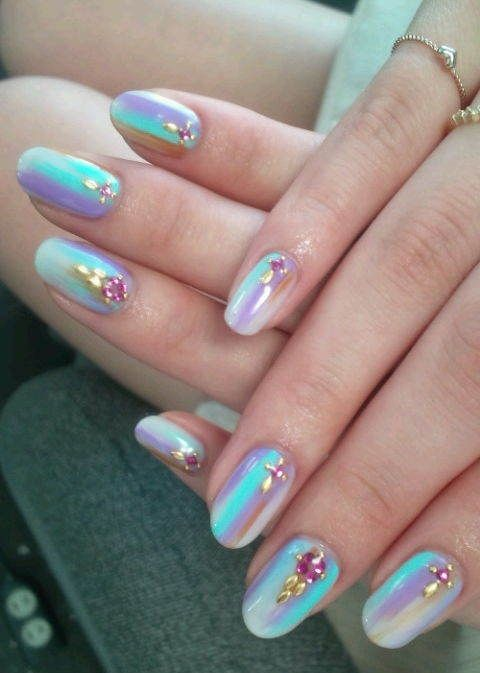 Latest Nails Fashion Of Ombre Nail Designs 2017: Best 25+ Opal Nails Ideas On Pinterest
