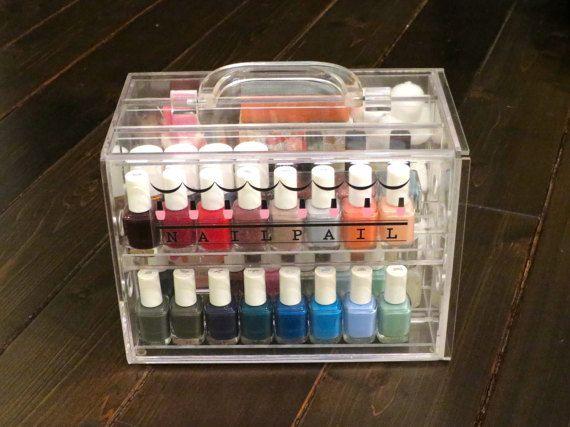 Uñas de cubo  organizador de esmalte de uñas Polaco y