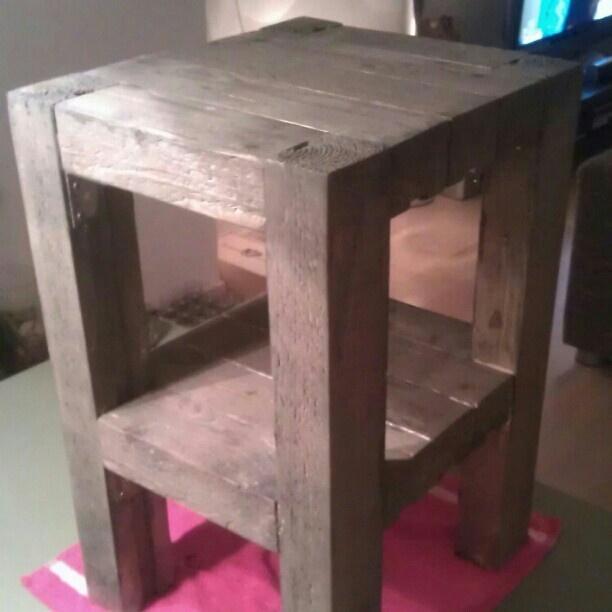 Simple wooden nightstand