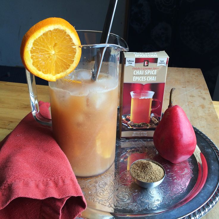 Pear chai mocktail punch