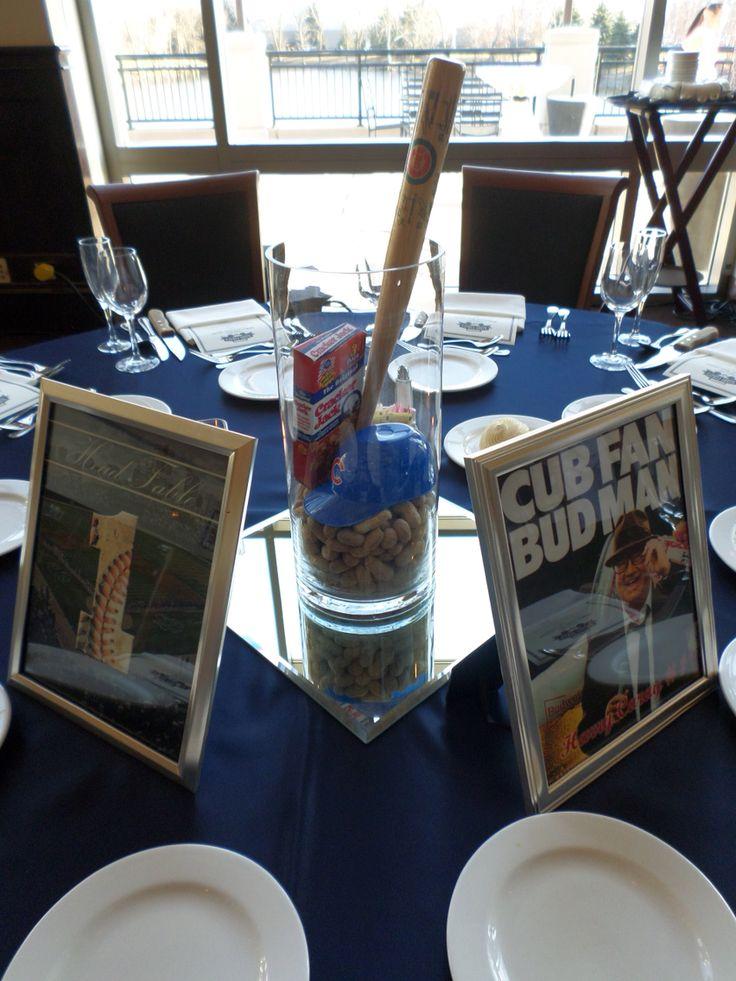 Chicago Cubs Baseball Wedding Centerpiece