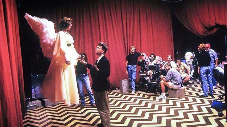 David Lynch & Lorna Macmillan on the set of FWWM. #twinpeaks (via Twin Peaks on Twitter)