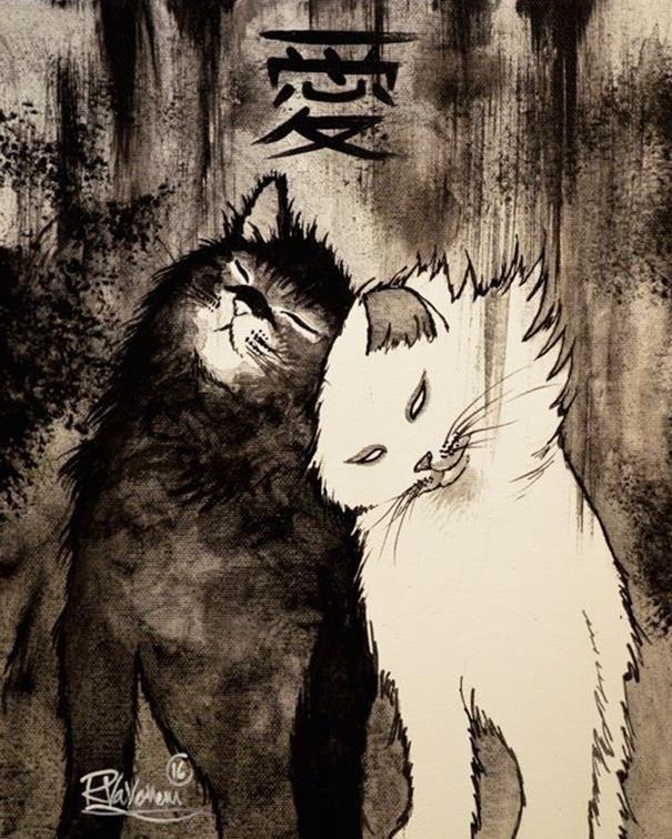 Sizi Hayal Dünyasına Davet Eden 25+ Fazla Kedi İllüstrasyonu: 'Raphael Vavasseur' Sanatlı Bi Blog 33