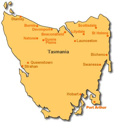 """Because of its shape Tasmania is likened to the shape of a womans vulva and in Australia """"The Map of Tassie"""" is used colloquially to mean a womans vagina.... ...ie. 'Show us ur Map of Tassie'....hahahah bazinga"""