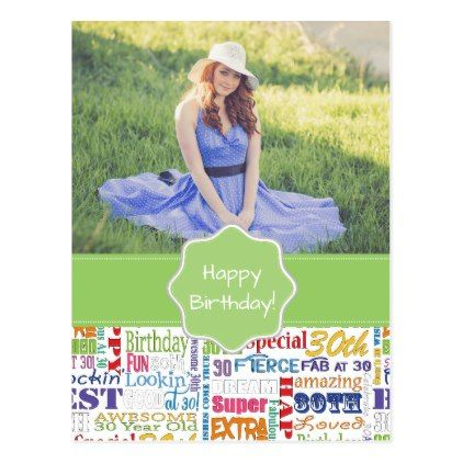 Unique And Special 30th Birthday Party Gifts Postcard - pattern sample design template diy cyo customize