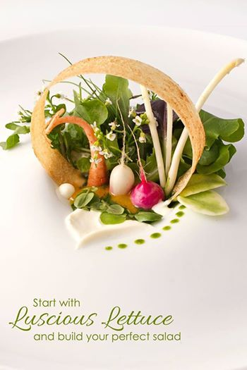 Spring salad created by CIC grad Chef Jamie Simpson at the Culinary Vegetable Institute.