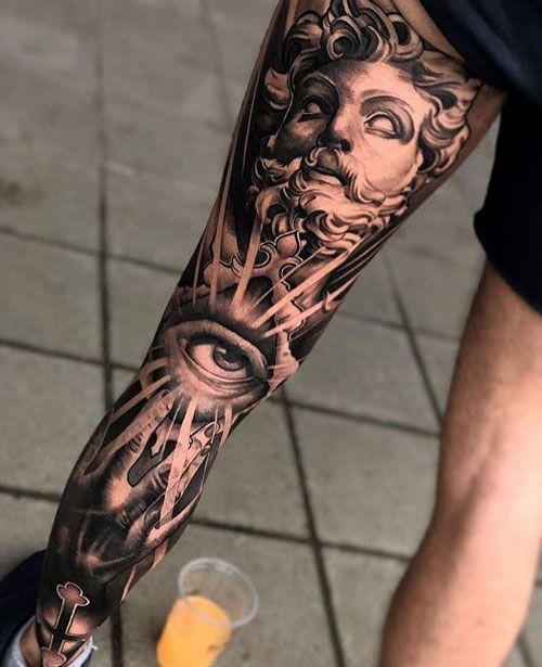 51 Best Leg Tattoos For Men Cool Designs Ideas 2019 Guide In 2020 Leg Tattoo Men Greek Tattoos Leg Tattoos