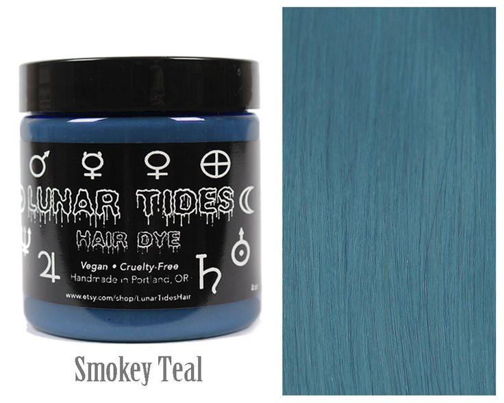 #teal #grey #hair #dye #color #smokey #lunar #tides #pastel #buy
