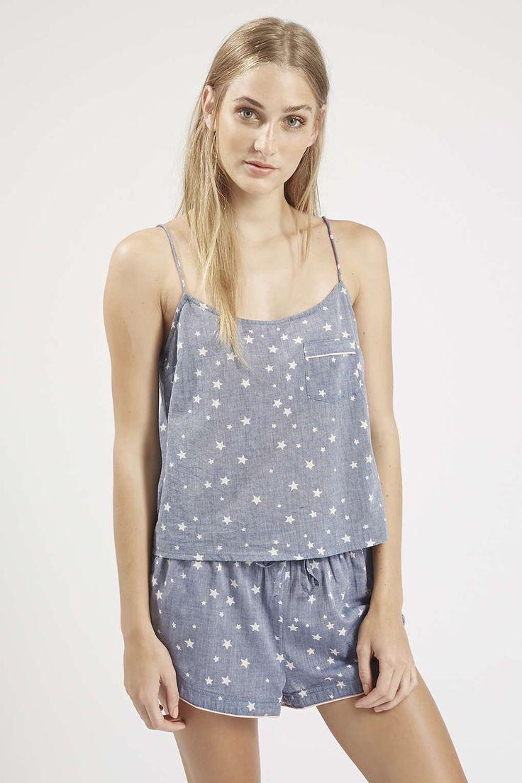 Photo 3 of Star Print Chambray Pyjama Cami