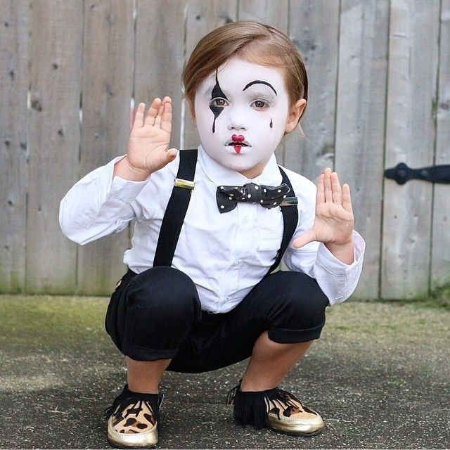 .So cute .. Mime costume                                                                                                                                                                                 More