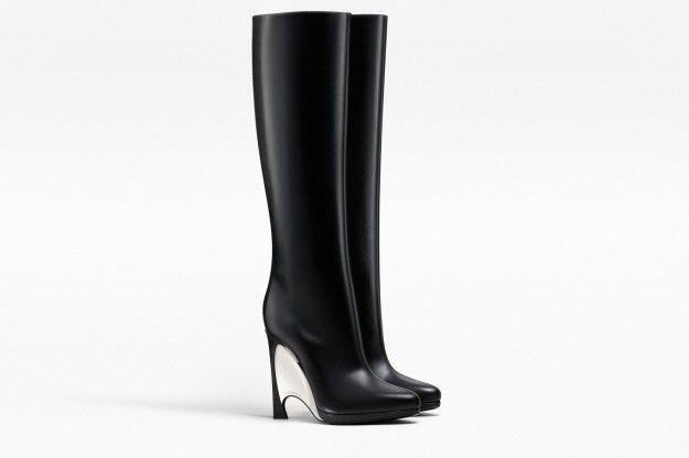 Stivali con tacco in compensato Dior