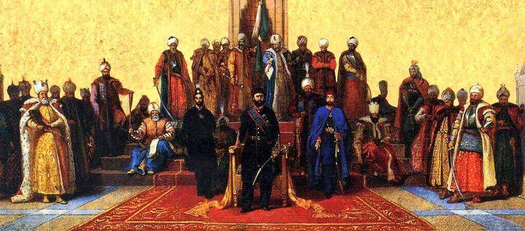 Ottoman Sultans all together till Sultan Abdulaziz