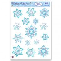Snowflake Window Clings Blue & White $4.95 BE22132